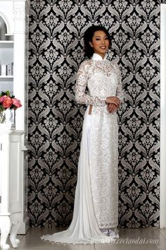 Linda Ao Dai (BWHLNLT000) I'd like the front to touch the floor... I'm starting to love the more modern full skirt ao dais but this look would be great without straying from the traditional dress.