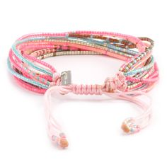 Chan Luu - Pink Mix Multi Strand Bracelet on Pink Cord, $95.00 (http://www.chanluu.com/bracelets/pink-mix-multi-strand-bracelet-on-pink-cord/)