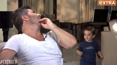 Simon Cowell's young son Eric crashes dad's interview - ITV News
