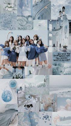 Sending you a sign Twice Momo Wallpaper, Lisa Blackpink Wallpaper, Tumblr Wallpaper, Kpop Girl Groups, Korean Girl Groups, Kpop Girls, Blue Aesthetic, Kpop Aesthetic, Cool Kpop Wallpapers