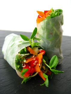 "Garden Fresh Spring Rolls.  So full of the ""GOOD STUFF""!"