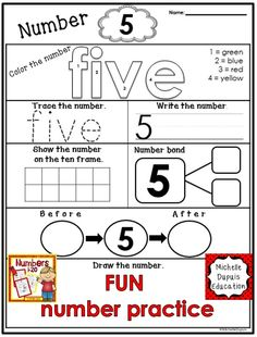 Great way to practice numbers.