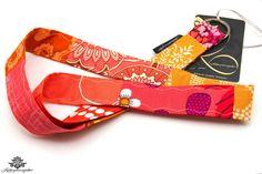 Schlüsselband orange, rot, pink - ein Lieblingsstück aus der #Lieblingsmanufaktur