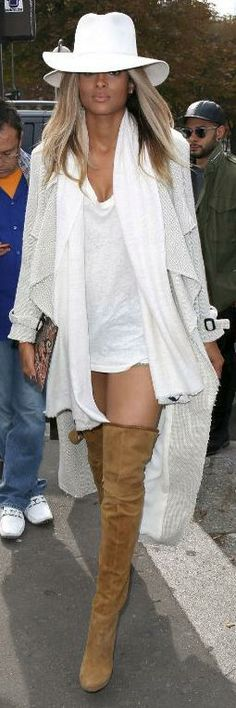 Chic Style: With the addition of some pants... Love those suede boots
