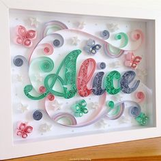 © Momo Quilling - Quilled names pictures (Searched by Châu Khang)