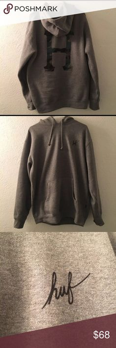 987b8ae42708d HUF Muted Military Grey Hoodie Super soft Huf Camo gray hoodie • Only worn  Once!