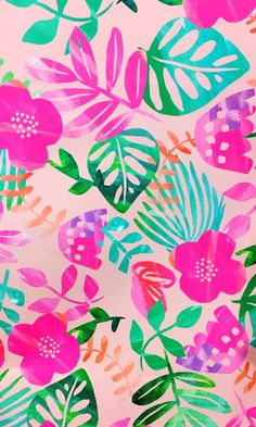 Best Ideas For Wallpaper Phone Backgrounds Pattern Pink Summer Wallpaper, Trendy Wallpaper, Pretty Wallpapers, Flower Wallpaper, Pattern Wallpaper, Tropical Wallpaper, Print Wallpaper, Girl Wallpaper, Cute Backgrounds