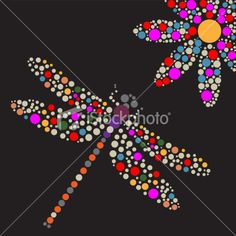 Dots dragonfly