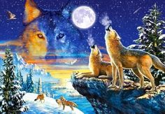 DIY diamond embroidery wolf and moon diamond painting Cross Stitch full drill Rhinestone mosaic home decoration Cross Paintings, Easy Paintings, Painting Frames, Diy Painting, Wolf Painting, Snow Wolf, Mosaic Pictures, Mosaic Diy, Wolf Howling