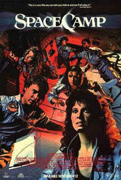 Space Camp.  Starring Kate Capshaw (Mrs. Steven Spielberg), Lea Thompson, Kelly Preston, Larry B. Scott, Joaquin Phoenix, Tate Donovan, Terry O'Quinn, and Tom Skerrit.  It's amazing how all those actors survived this movie!    http://4.bp.blogspot.com/_jNFMBZMTBvA/TD_V6xWXdnI/AAAAAAAABbE/t6C1ZcRPd_A/s1600/Space+Camp+poster.jpg