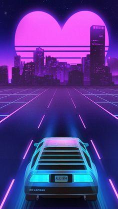 "'S official retro sci-fi style music video for ""gone"" Vaporwave Wallpaper, 80s Video Games, Vaporwave Art, Neon Aesthetic, Retro Videos, Retro Background, Retro Waves, Retro Art, Retro Futurism"