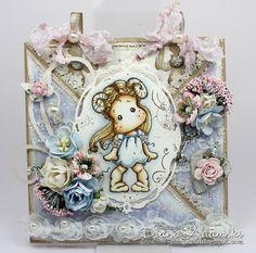 OOAK Handmade Magnolia Criss Cross Card por DeeDeesCardArt en Etsy, €18.00
