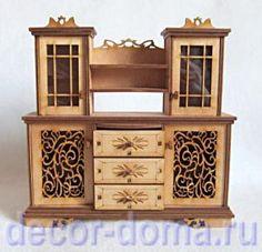 """Кукольная мебель """"Ажур"""", шкаф-буфет , купить с доставкой, мебель для кукол и мишек Тедди"""