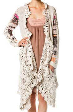 Odd Molly cute crochet jacket