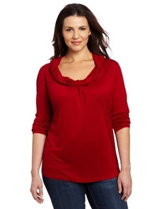 Jones York Womens Plus-size Long Sleeve Cowl Neck Top With Twist by Jones New York  $49.00   www.your-online-fashion.com