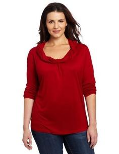 Jones York Womens Plus-size Long Sleeve Cowl Neck Top With Twist by Jones New York  $49.00   www.your-online-fashion.com