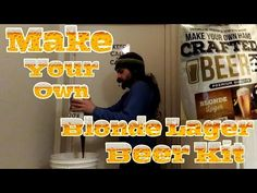 Make Your Own Hand Crafted Beer Kit Blonde Lager Home Brew - YouTube