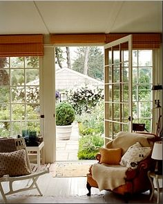 I always love french doors and especially looking out on a garden