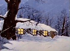 vintage snowing