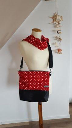 Tasche Milow aus Baumwollstoff und Kunstleder