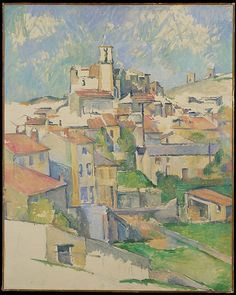 "Paul Cézanne (French, Aix-en-Provence 1839–1906 Aix-en-Provence). Gardanne , 1885–86.  The Metropolitan Museum of Art, New York. Gift of Dr. and Mrs. Franz H. Hirschland, 1957( 57.181)  | This work is exhibited in the ""Unfinished: Thoughts Left Invisible"" exhibition, on view through September 4th, 2016. #MetBreuer"