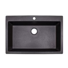 Franke Primo 33-in x 22-in Graphite Single-Basin Composite Drop-In or Undermount 4-Hole Commercial Kitchen Sink
