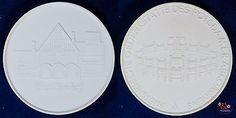 Cecilienhof Potsdam - Medaille DDR - Böttger Steinzeug Meissen ca 41g 64mm