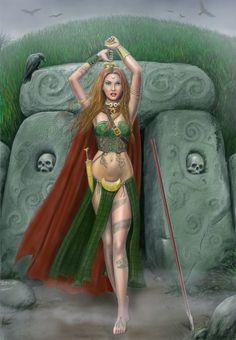 """Morrigan""  ""Celtic war goddess"""