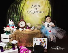First Birthday, Alice in Wonderland Inspired!  ONE.  This was so much fun and I love, love, the theme.  Baby girl was a dream to work with and styled theme was fun to search items for.  It was good to get to be creative and do my own style.
