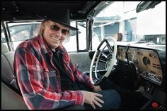 Neil Young- In Car debuting Pono Player © Danny Clinch