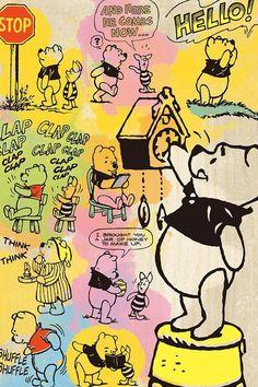 ディズニー コミックアート・プー iPhone(640×960)壁紙 画像58713 スマポ