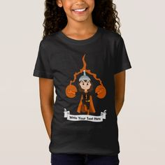 Custom flying superhero girl cartoon T-Shirt