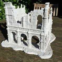 Ruined Building of Osgiliath / Gondor - High Quality LOTR resin terrain, scenery…