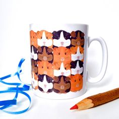 Guinea Pig Ceramic Mug by InnaboxDesign   Etsy