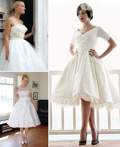 If I can't fit into my mother's wedding dress, I'm wearing a 50s style one!
