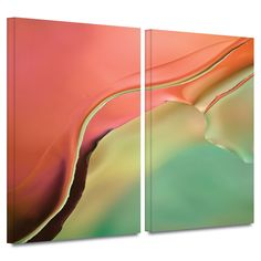 'Flow Abstract I' by Cora Niele 2 Piece Graphic Art Gallery-Wrapped on Canvas Set