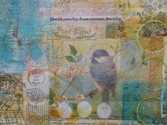 Create with me at Cloth Paper Scissors retreat.  August 24, 2013.  Mixed Media Correspondence Quilts