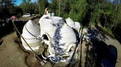 Earthbag Construction Ideas.  1st Ecodome in Quebec Timelaps / Earthbag building