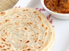 Lachha Paratha - Indian Style Layered Paratha also known as (Malbar Paratha, Kerala Special Paratha)