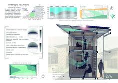 Resultados do concurso estudantil  de arquitetura bioclimática da IX Bienal José Miguel Aroztegui / Abrigos de Emergência,Primeiro Lugar - Prancha 2. Image Cortesia de  IX Bienal José Miguel Aroztegui