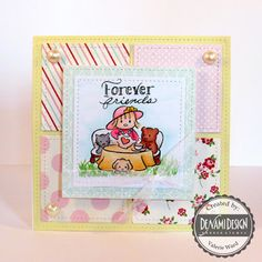 DeNami Design stamps, Pretty Pink Posh sequins & dies, Lawn Fawn dies, Carta Bella paper, Copics {ValByDesign, 2015}