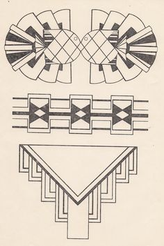 Art deco design- the one at the bottom might be do-able