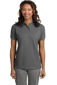 Port Authority Ladies Pique Sport Shirt (L420) Available in 24 Colors Small Steel Grey Port Authority. $21.33