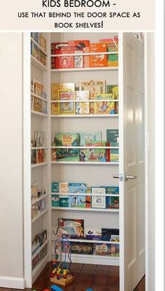 Reading corner behind your child's bedroom door