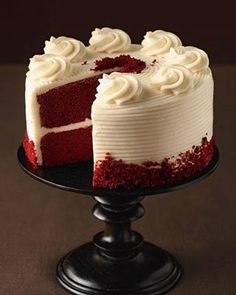 red velvet cake. favorite dessert and favorite food. i could eat all day, anyday, everyday. i could eat this full, i'm not even kidding. that's how much i love it.