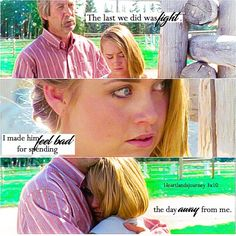 """""""The last thing we did was fight. Heartland Season 3, Amy And Ty Heartland, Heartland Quotes, Heartland Ranch, Heartland Tv Show, Best Tv Shows, Best Shows Ever, Ty E Amy, Good Movies"""