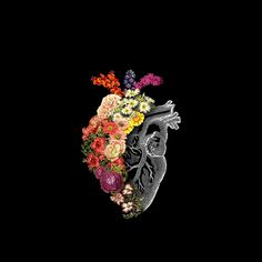 'Flower Heart Spring' Tapestry by tobiasfonseca Cute Wallpapers, Wallpaper Backgrounds, Heart Wallpaper, Wallpaper Lockscreen, Iphone Wallpapers, Anatomy Art, Medical Art, Psychedelic Art, Heart Art