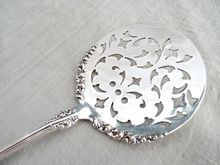 Antique silver tomato server 1847 Rogers Avon pattern