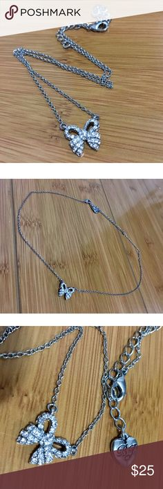 Betsy Johnson Dainty Bow Necklace Excellent condition. Cute bow necklace, fits close to neck a little longer than a choker. This style is no longer made by the designer and cannot be found in stores. Betsey Johnson Jewelry Necklaces