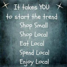 Shop Local, Eat Local! From Chugiak-Eagle River Chamber of Commerce